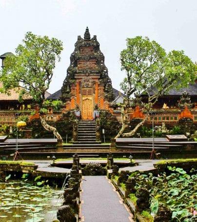 Temple at Ubud, Indonesia