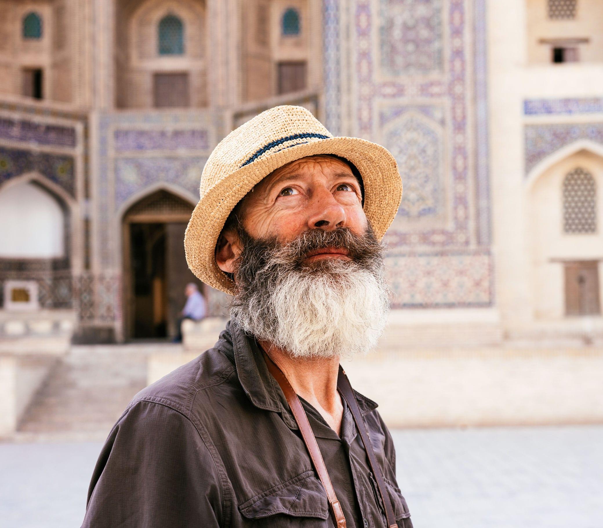 male traveler