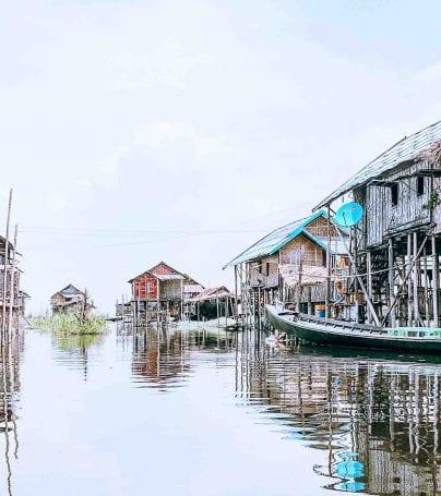 Lake village in Taunggyu district of Myanmar