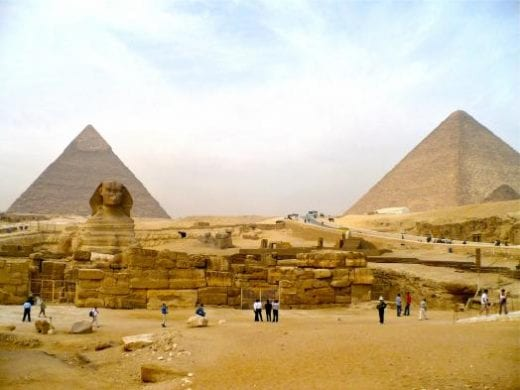 The Great Pyramids and the Sphinx are captivating sites near Cairo (photo by S. Anderson)