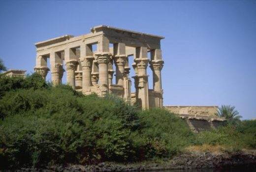 View the Temple of Isis from the river as you approach
