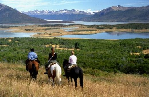 Horseback ride amidst breathtaking scenery.