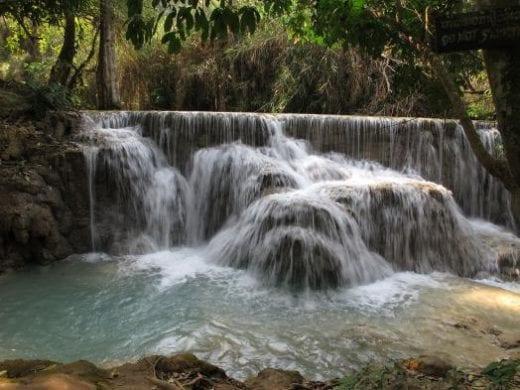 Visit Kuang Sy Waterfalls