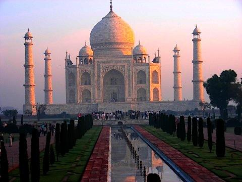 See the majestic Taj Mahal at sunrise