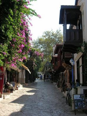 Explore the streets of Kas lined with traditional homes