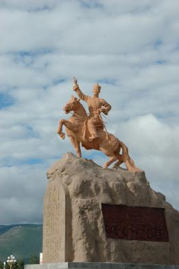 Ghenghis Khan monument in Ulaan Baatar