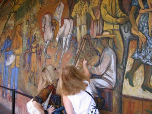 Murals help tell the story of Michoacan