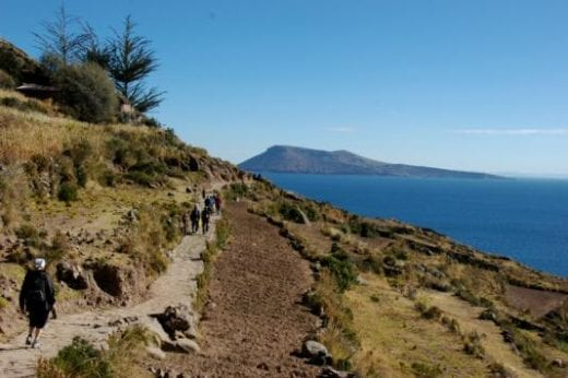 Hike along the lake shore of Lake Titicaca.