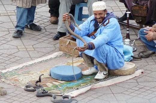 Watch for snake charmers in the square
