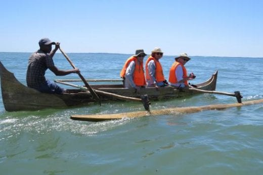 Ride in a pirogue
