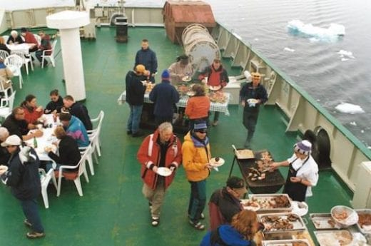 Alfresco dining in Antarctica