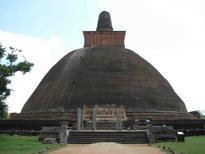 The Jetavanaramaya is a stupa located within the ancient city of Anuradhapura
