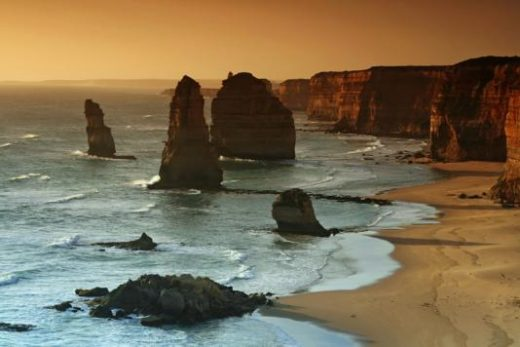 The 12 Apostles along the Great Ocean Road