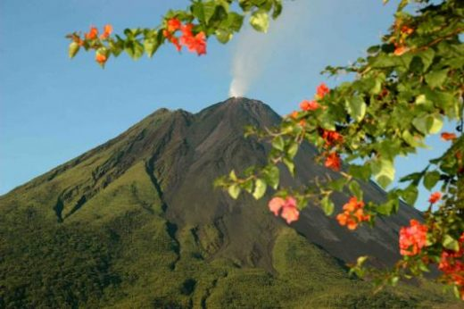 Beautiful view of Arenal Volcano from your hotel.