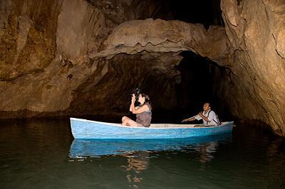 Canoe through Barton Creek Cave
