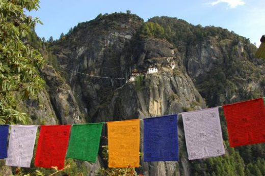 Taktsang (Tiger's Nest) Monastery from the road