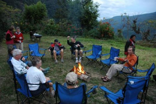 Share the day's stories around the fire on your last night of camping