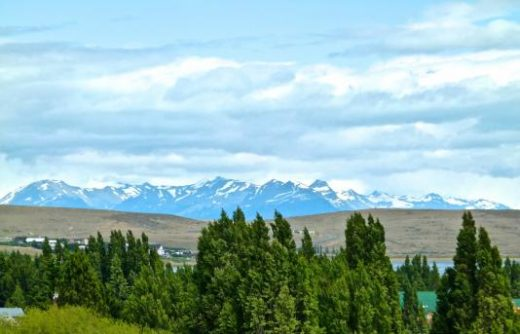 The Patagonian landscape is stunning viewed from El Calafate.