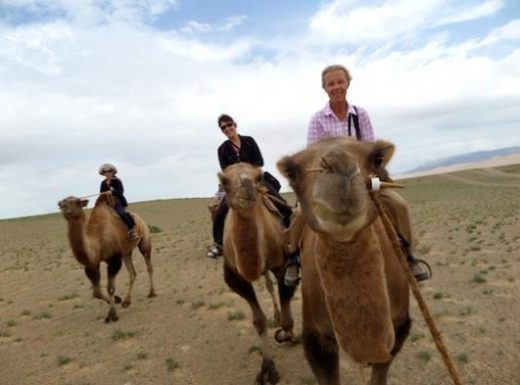 Ride a camel in the Gobi Desert
