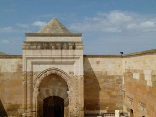 Admire the 13th century Caravanserai on your travels today