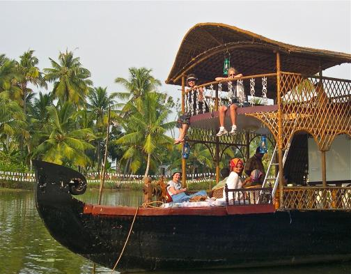 Explore the backwaters on a houseboat