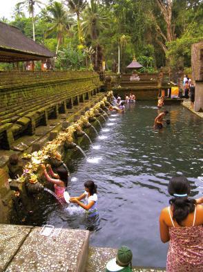 Sacred bathing area at a temple near Ubud