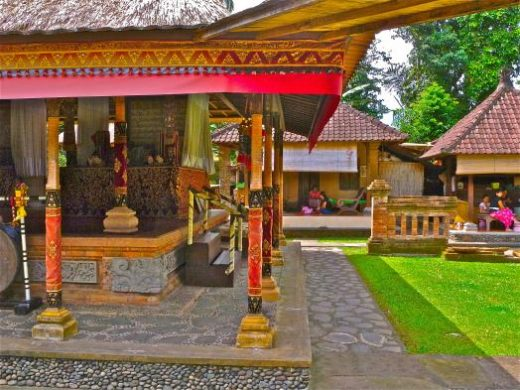 The traditional family compound at Mengwi