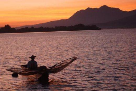The shores of Lake Patzcuaro
