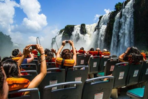 You will get wet on a boat tour!