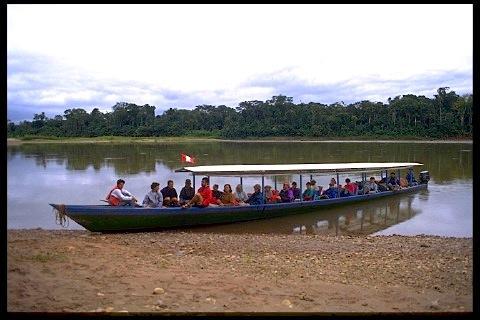 The world's longest motorized canoes