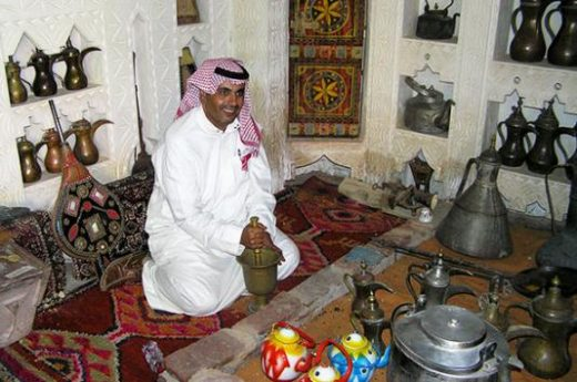 Inside a traditional Saudi home
