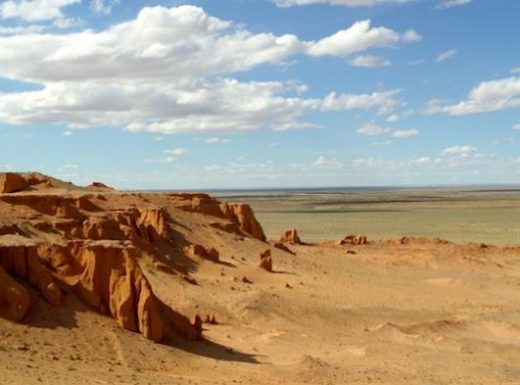 "Visit Bayanzag ""Flaming Cliffs"""