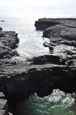 Visit tidal pools and the rocky coast of Santiago