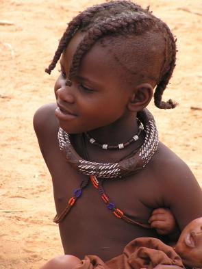 Make new friends with Himba villagers