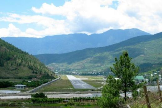 You'll fly into Paro