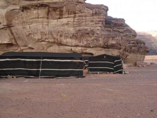 Bedouin tents in Wadi Rum