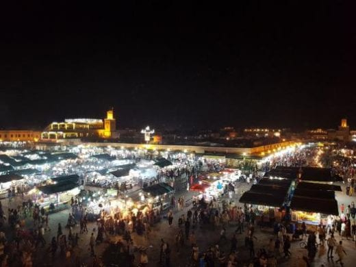 Be sure to explore Jemaa El Fna Square at night