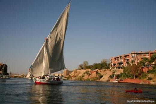 This is your chance to ride in a traditional felucca