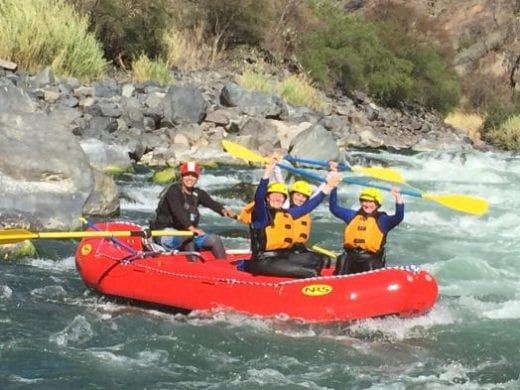 Your guide helps you navigate the rapids