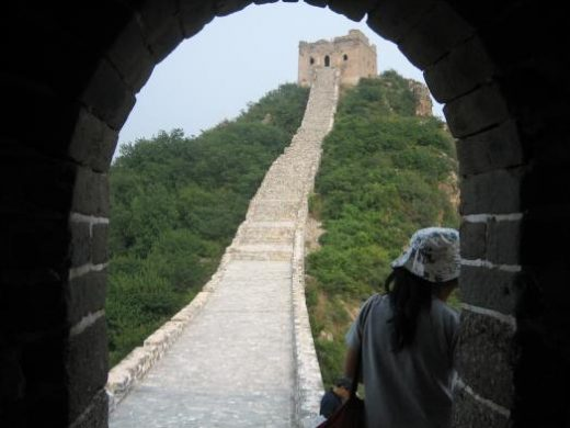Uncrowded Simatai section of the Great Wall