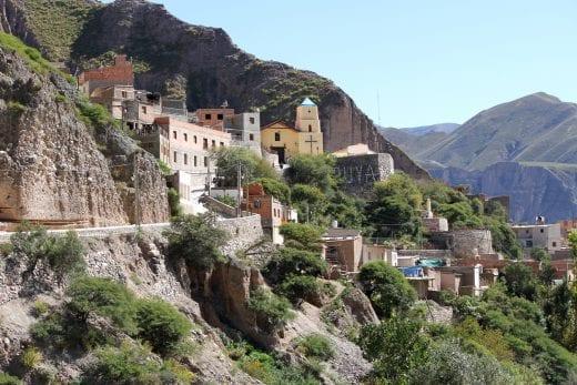 village on hillside