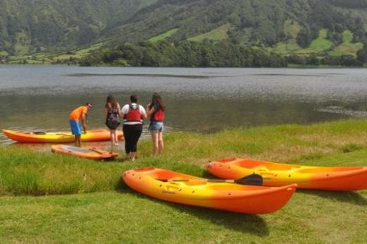 Experience the lake from a kayak