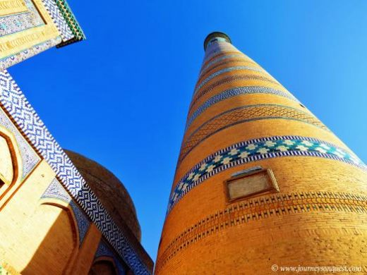 Islam Khodja Minaret viewed from below (Photo from Journeys On Quest)