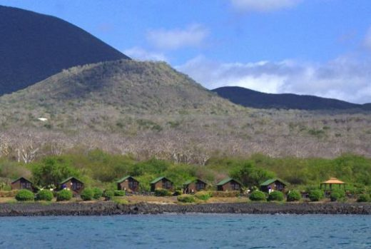 Settle into Floreana Lava Lodge right on the water