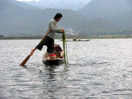 Leg-rower on Inle Lake