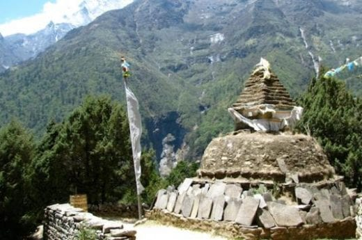You will pass many stupas on the trail