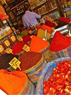 The colorful Spice Bazaar
