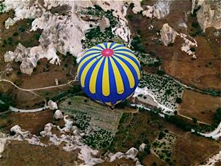 Hot air balloon ride over the Cappadocia region
