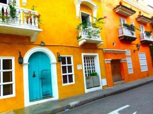The colorful homes of Cartagena