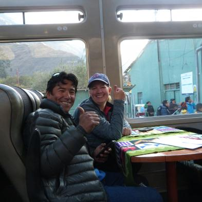 Making friends with Peruvian guides